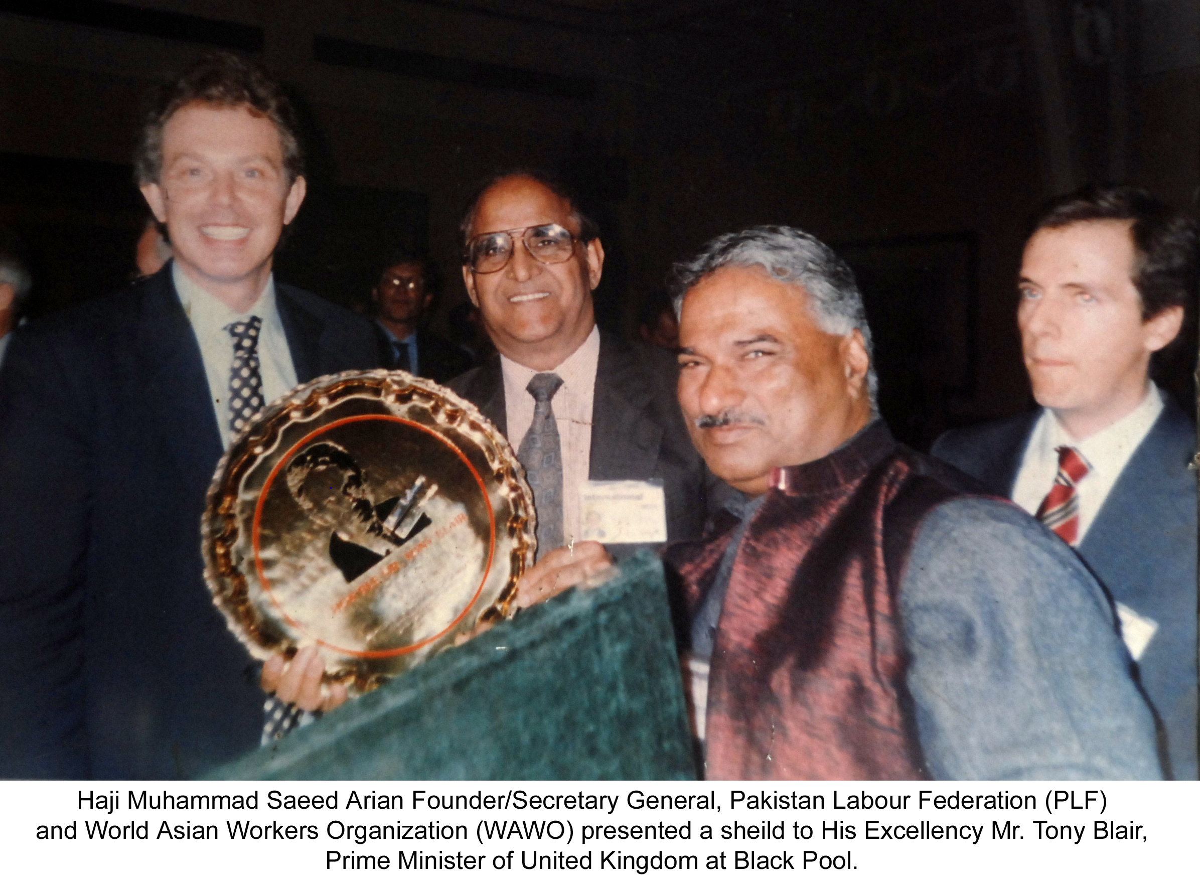 Haji Saeed Arian with Tony Blair